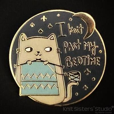 Pin - I knit past my bedtime