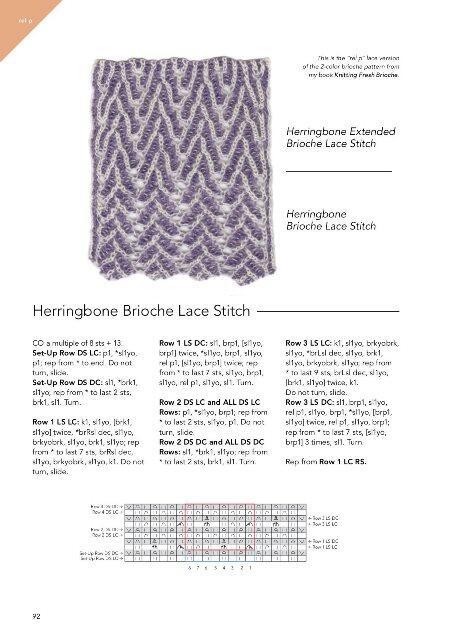 Knitting Brioche Lace Af Nancy Marchant
